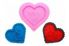 Molde de Silicona Corazón Boda Compromiso Amor Tartas Decoración Cocción Fondant