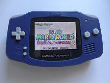 Backlit Nintendo GBA Game boy Advance Custom Backlight - indigo ags 101 brighte