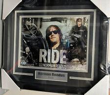 NORMAN REEDUS RIDE Signed 11x14 Photo FRAMED AUTOGRAPH BECKETT  BAS COA B