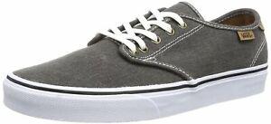 VANS Skateboarding Shoes CAMDEN Lace Up Washed Grey Size: UK 6