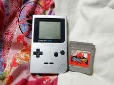 """GameBoy LIGHT Silver Handheld System"" Works Great! L10524077 & Makaimura Gaiden"