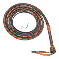 6 Feet Long12 Plaits weaving bull whip Equestrian Rope Core High Quality LEATHER