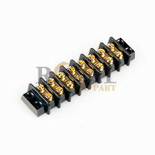 8 POSITION HD 20A WIRE CONNECOR SCREW BARRIER GOLD TERMINAL STRIP BLOCKS
