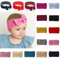 2pcs Nylon Baby Chiffon Toddler Flower Bow Headband Hair Band Kids Girl Headwear