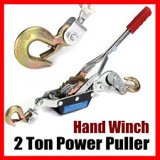 2 Ton Hand Winch Puller Hoist Ratchet Hand 2 Hooks for Boat Trailer Car