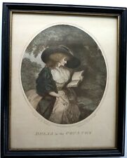Delia In The Country & Delia In Town - Vintage Pair  Color Lithograph Art Prints