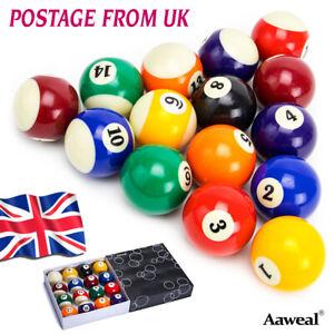 "Complete 2-1/4"" Billiard Pool Cue 16 Balls set Home Sport"