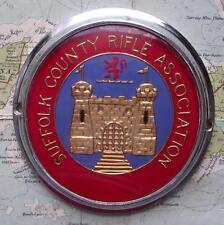 c1950 Old Car Mascot Badge : Suffolk County Rifle Association