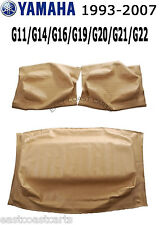 Yamaha 1993-2007 G11-G22 Golf Cart TAN Seat Back & Seat Bottom Cover Set of 3