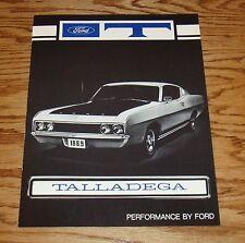 1969 Ford Torino Talladega Facts Features Sales Folder Brochure 69
