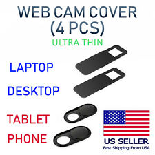 4PCS WebCam Cover Slide Camera Privacy Security Protect For Phone Laptop Tablet
