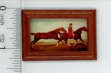 Dollhouse Miniature Framed Equestrian Picture