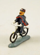 J CARLTON BY GAULT FRENCH MINIATURE FIGURINE POLICEMAN RIDING BICYCLE