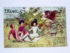 1910 E.HAMEL/NOTTINGHAM SIGNS OF THE ZODIAC ADVERTISING MAY CALENDAR POSTCARD