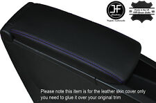 PURPLE STITCH ARMREST LID LEATHER COVER FITS RENAULT SCENIC GRAND SCENIC 09-15