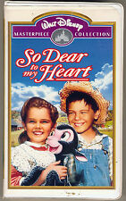 So Dear to My Heart VHS - Walt Disney's Favorite Film! RARE - Burl Ives