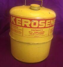Yellow Gas Kerosene Metal Can Sears Vintage 5 1/4 gal 19.87 liters 15 in High