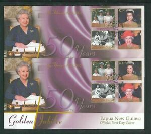 Papua New Guinea PNG 2002 Royalty FDC Covers x 2 (Pap97)
