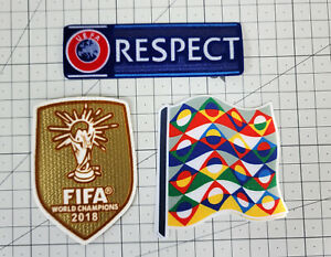 2020-2021 France Away UEFA Nations league Patch Badge set Soccer Football jersey