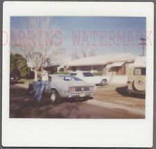Vintage Kodak Instant Photo Man w/ 1970 Ford Mustang Car 704631