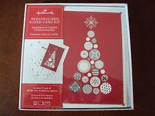 New Hallmark Boxed Lot Of 12 Christmas Cards ~ Personalized Card Kit  #dc75 Tree