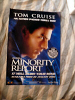 MINORITY REPORT TOM CRUISE ORIGINAL 1 SHEET MOVIE POSTER