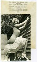 Original Rare.Sexy Blonde Nude.Dress Falling Down.Heels.Risque Pinup.Old Photo.