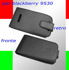 custodia in eco PELLE NERA per BLACKBERRY 9530 STORM