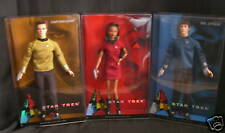 Lot of 3 Star Trek Barbie Dolls Spock Kirk Uhura NIB