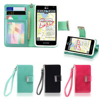 IZENGATE Wallet Flip Case PU Leather Cover for LG Optimus F3