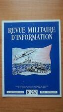 REVUE MILITAIRE D'INFORMATION revue officielle du service d'information