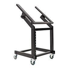 More details for 19'' 12u + 10u adjustable studio rack trolley by gear4music