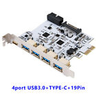 PCI-E Type C Expansion Card Adapter PCI Express to USB 3.0 5Port 1Port USB3.1