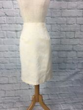 Vintage Ellen Tracy Size 14 Cream Rose Print Pencil Skirt New With Tags