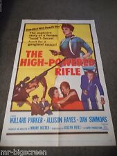 THE HIGH-POWERED RIFLE - ORIGINAL FOLDED POSTER - 1960