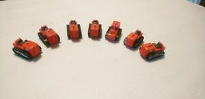 Tyco HO Train Lot of 7 Red Tractors For Flatcars/Layout/Scenery/Accessories