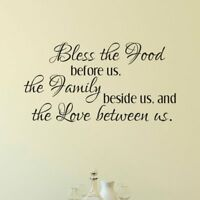 Vinyl Wall Decal, Bible Wall Decal, Bless Wall Decal, Bless the food before us