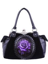 Restyle Purple Rose Handbag Handtas