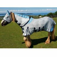 GS Equestrian All in One Combo Mesh Fly Rug Free Fly Mask Wide Belly & Tail Flap