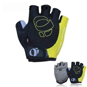 Mens Cycling Gloves Fingerless Windproof Half Finger Gym Fitness Sport