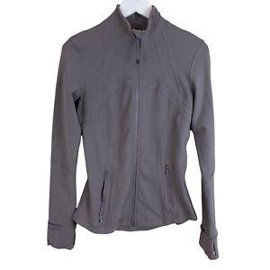 Lululemon Define Jacket Dark chrome Size 6 Athletic Running Yoga jacket