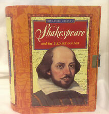 SHAKESPEARE & THE ELIZABETHAN AGE TREASURE CHEST TIN DIARY PRINTING KIT BOOKS