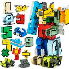 Numbers Armour Team Transform Robot Toy for Kid Play Display Party Game