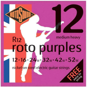 Rotosound Electric Guitar Strings - FREE Additional 1st E String - Gauge: 12-52