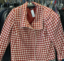 Talbots Red And White Houndstooth Jacket 16