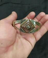 EXTREMELY RARE ANCIENT SILVER VIKING BRACELET CUFF Engraved ARTIFACT AUTHENTIC