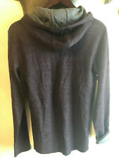NEW VINCE PURPLE GRAY COTTON WOOL HOODED SWEATER SIZE M
