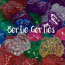 50 x Glitter Sparkle butterfly Pony Beads - Mixed Colours