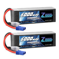 2x 6000mAh 4S 100C 14.8V EC5 Plug LiPo Battery for RC Car Truck Boat Helicopter