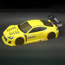 RIDE SUBARU BRZ Race RC Cars Concept Body Pre-Printed Yellow M-Chassis #27028